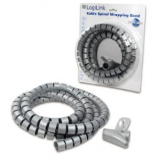 Spiraal kabelbinder 25 mm x 2.5 meter - Zilvergrijs